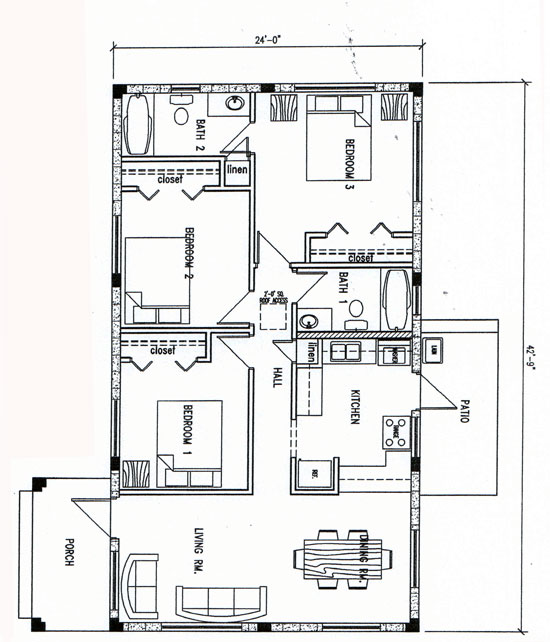The Department of Housing – 3 Bedroom House Floor Plans With Models